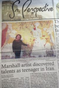 Marshall Artist Discovered Talents As Teenager In Iran